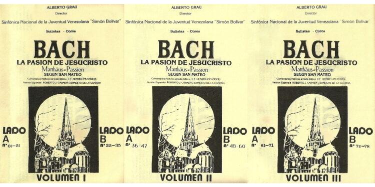 Álbum: La Pasión de Jesucristo Según San Mateo. Johann Sebastian Bach